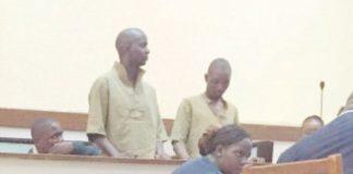 Esau Hondora and Proud Mhaka in court room