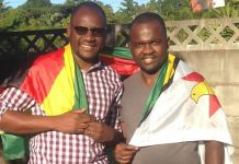 Pastor Evan Mawarire seen here with Patson Dzamara, the brother of abducted and missing activist Itai Dzamara