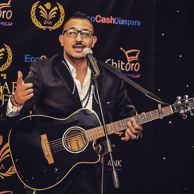 Kazz (Mr Boomslang) during his performance at the Zimbabwe Achievers Awards 2016 in London