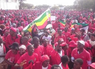 "The main opposition Movement for Democratic Change (MDC) on Saturday carried out its second ""freedom demonstration"" in the second largest city of Bulawayo."
