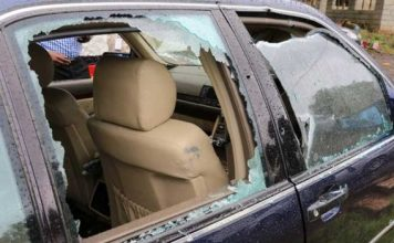 Police said about at least 10 bullets were fired at Jacob Juma's Mercedes car