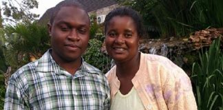 Raymond Oganio and wife Chipo
