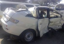 File picture of an accident damaged Toyota Gaia