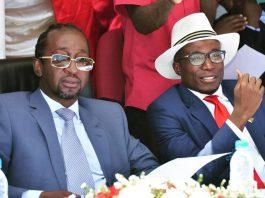 In happier times: Patrick Zhuwao and Acie Lumumba