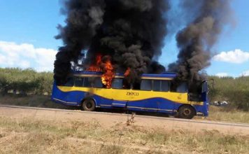 More than 70 pupils at Regina Mundi High School in Lupane escaped unhurt when a Zupco bus they were travelling on caught fire due to a suspected mechanical fault near Tsholotsho Business Centre.