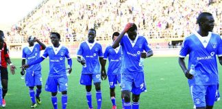 File picture of Dynamos players on the pitch