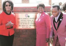 The First Lady Grace Mugabe, Dr Eunor Guti and Professor Ezekiel Guti pose for pictures soon after the ribbon cutting to mark the official opening of the Zaoga owned Mbuya Dorcas Hospital in Harare yesterday