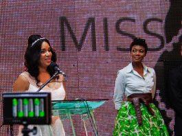 Miss Tourism Zimbabwe patron Barbara Mzembi with Patience Musa and Gary Thompson