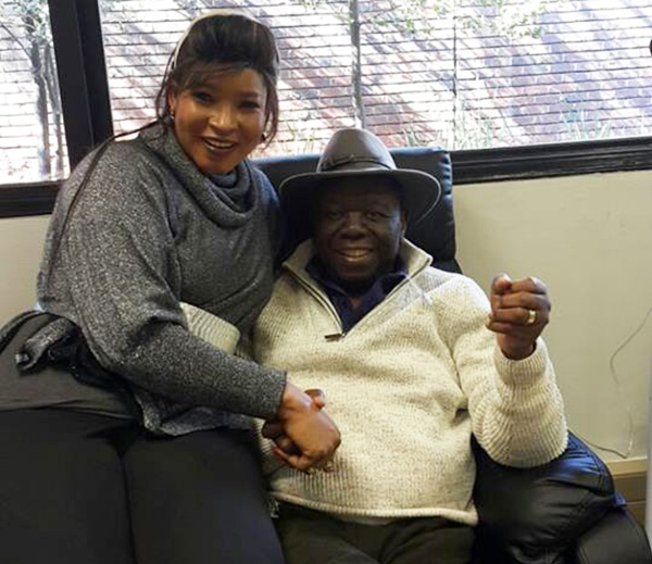 Morgan Tsvangirai with his wife Elizabeth soon after the opposition leader received his first chemotherapy