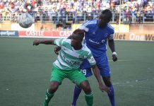 Zambian international forward Obrey Chirwa (left) moves from FC Platinum to Young Africans in Tanzania