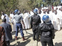 Flashback: Riot Police and an apostolic congregation in a hostile confrontation in 2014