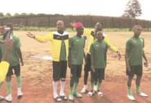 THIS IS NOT FOOTBALL . . . The shocking image of the sub-standard bumpy and sandy training ground, with no grass at all, which was given to the Young Warriors by their hosts Cameroon ahead of the CAF Under-20 Championship qualifier