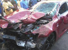 Stunner's damaged Lexus