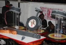 FOR A TRUE KING . . . This guitar, mic and drum set made up just a portion of Alick Macheso's gigantic birthday cake