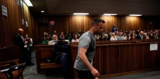 Last month during a dramatic pre-sentencing hearing, the double amputee was asked by his own defence team to remove his prosthetic legs and walk around the courtroom.