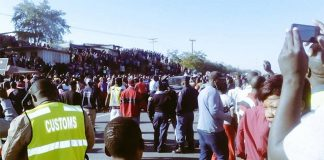 Beitbridge Border Post during the chaos that erupted in June this year