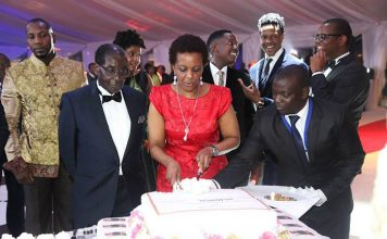 File Picture: Grace Mugabe cutting her birthday cake last year