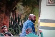Zanu PF Bikita West MP Munyaradzi Kereke being taken to jail on Monday
