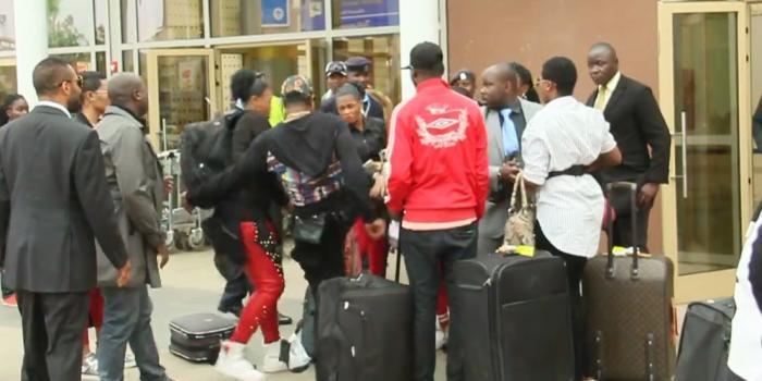 Koffi Olomide Kicks Female Dancer in Nairobi Kenya deports singer Koffi over airport kicking a woman