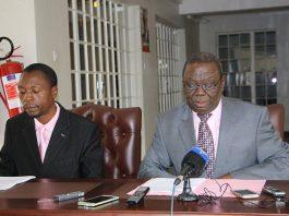 Opposition leader Morgan Tsvangirai and his spokesman Luke Tamborinyoka