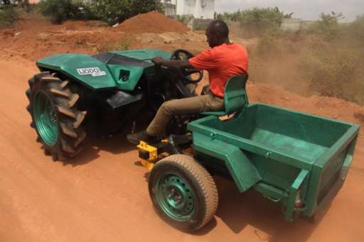 International Tractor Tattoo Designs : Nigerian engineer designs and builds a