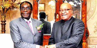 Robert Mugabe pictured here with Jacob Zuma