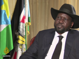 South Sudan's president Salva Kiir on Aljazeera