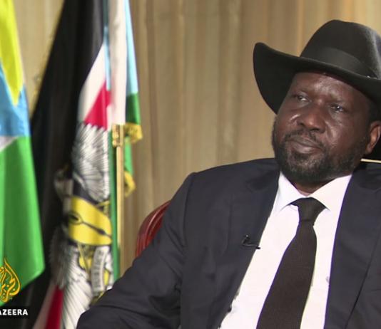 South Sudan's president Salva Kiir on Aljazeera