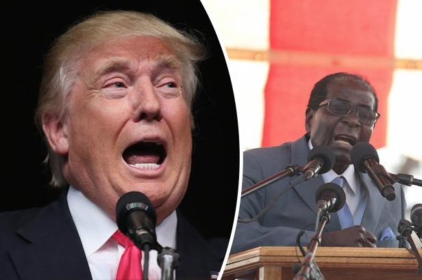 Two senior United States officials have compared President Robert Mugabe's weird nature to that of that country's Republican Party presidential nominee Donald Trump.