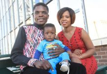 Tryson Chimbetu with wife Nyarai and son Naison (Jnr)