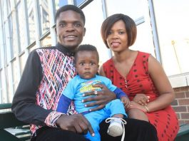 Tryson Chimbetu with wife Nyarai and son Naison (Jnr)