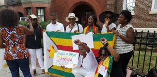 Zimbabweans protest in USA, urge Mugabe to go
