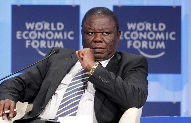 File picture of Morgan Tsvangirai at the World Economic Forum