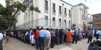 Zimbabweans can spend all day in a bank queue