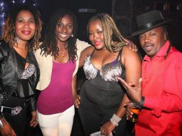 "Singer Dino Mudondo seen here with fellow singers Hope Masike (second from left) and Diana 'Mangwenya"" Samkange"