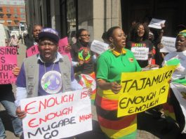 Exiled Zimbabweans demonstrated in London on Wednesday for the third day in a row as unrest mounted in Zimbabwe
