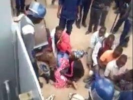 Screenshot of shock video of police brutality in Zimbabwe