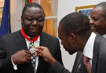 Morgan Tsvangirai seen here with Nelson Chamisa