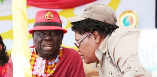 Morgan Tsvangirai and Joice Mujuru seen here in Gweru