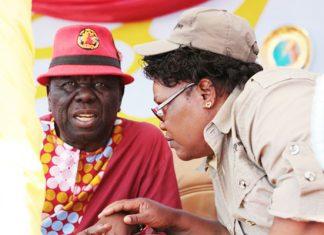 Morgan Tsvangirai and Joice Mujuru seen here in Gweru