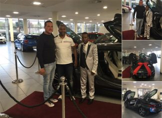 Cedar Isle Auto, situated in Fourways posted pictures of the proud pastor with his new wheels.