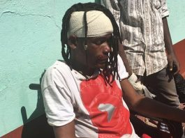 Soul Jah Love at Gweru Hospital after the accident yesterday