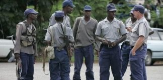 Zimbabwe police in this file photo/Reuters