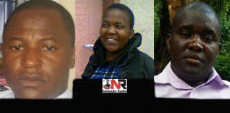 Benjamin Stailodge Mashange, Febbie Muromba and Lewis Tsvere