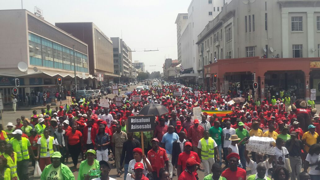 NERA demonstration in Bulawayo on Saturday
