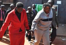 The late Rebecca Mafukeni (left) seen here in cuffs with Yvonne Musarurwa