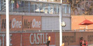 Ariel Sibanda makes a crucial save to deny Harare City from the penalty spot