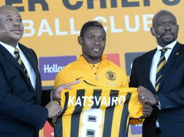 Michelle Katsvairo signing for Kaizer Chiefs
