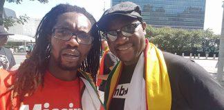 Filmmaker Rufaro Kaseke seen here with Pastor Evan Mawarire