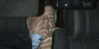 Allardyce pictured departing from Wembley on Tuesday